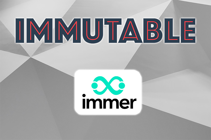 The Immer and Immutable.js logos.