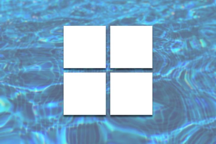 Microsoft Logo Over Water