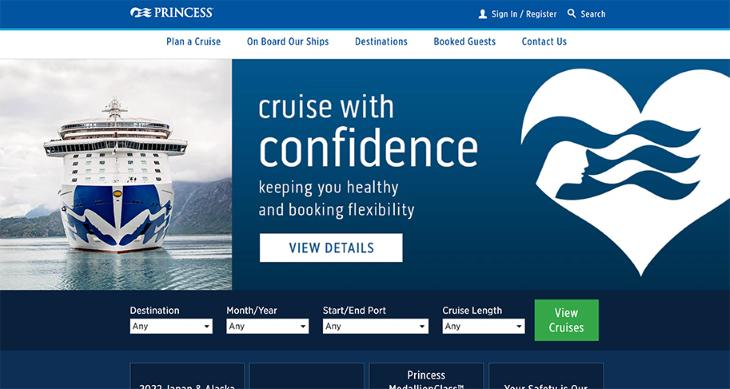Princess Cruises Home Page