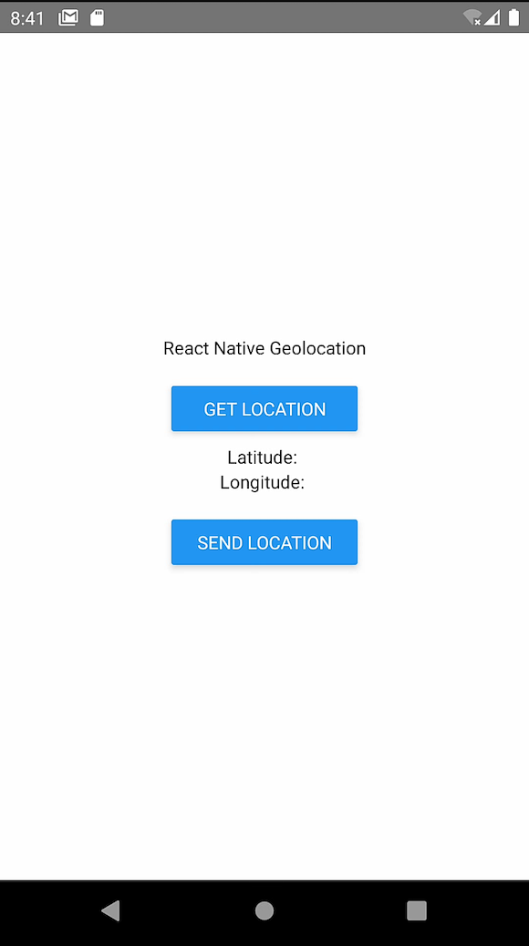 React Native Geolocation: Longitude and Latitude