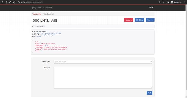 Todo Detail API View