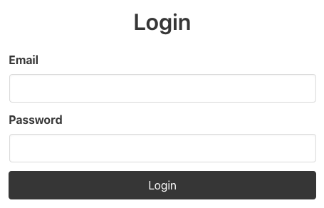 Basic Login Form Visual
