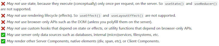 RFC React Components Restrictions