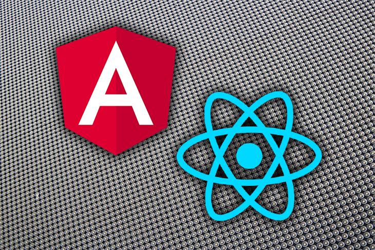 React and Angular Logos