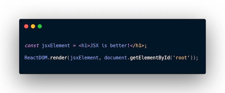 createElement JSX Example