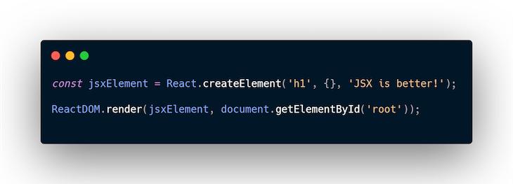 createElement Example no JSX