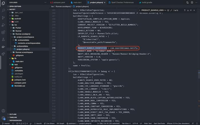 Project Bundle Identifier