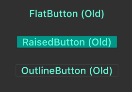 New Flutter Buttons vs. Old Buttons Example