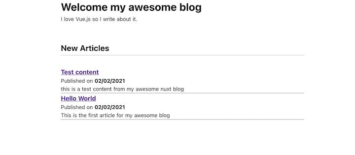 Rendering Blog Articles in Nuxt.js
