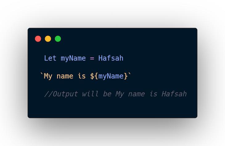 Template Literals JavaScript Evaluation