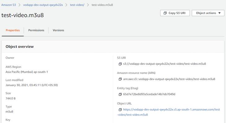 File test name video Public access URL