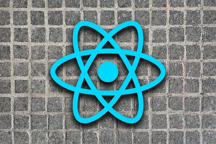 React Logo Over a Grid