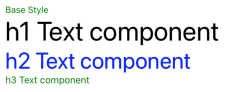 Base Component Text Style Color Setting