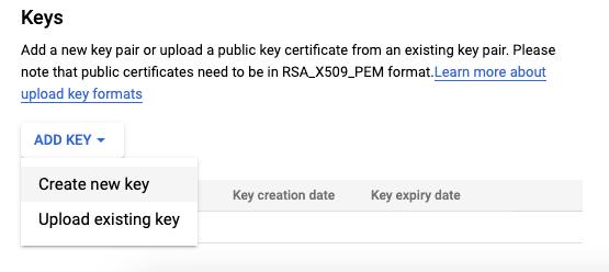 Create New Key