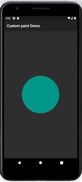 Custompaint Flutter CirclePainter Display