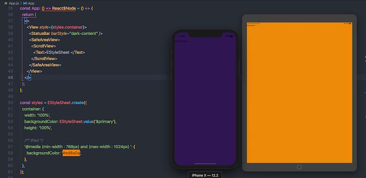 Eylesheet Value Background Change Ipad Display