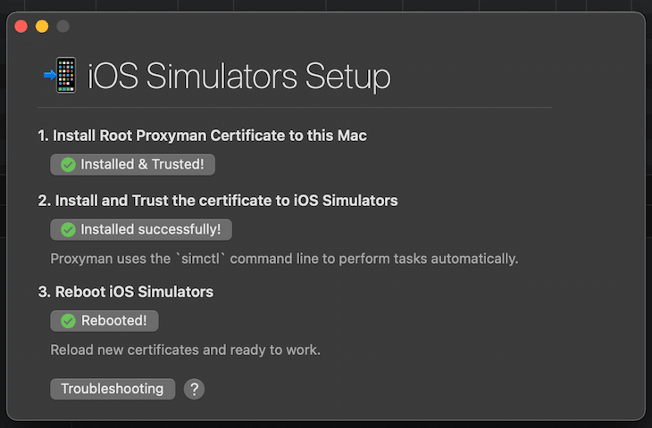 iOS Simulator Setup Certificates