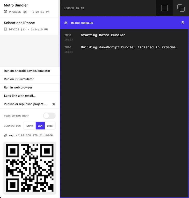 Metro Bundler Open Default Browser