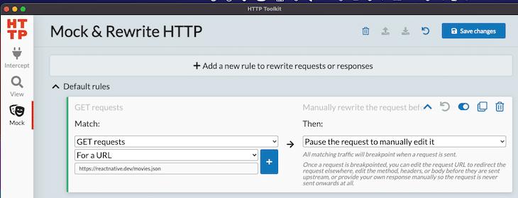 Mock Rewrite Rules Intercept GET