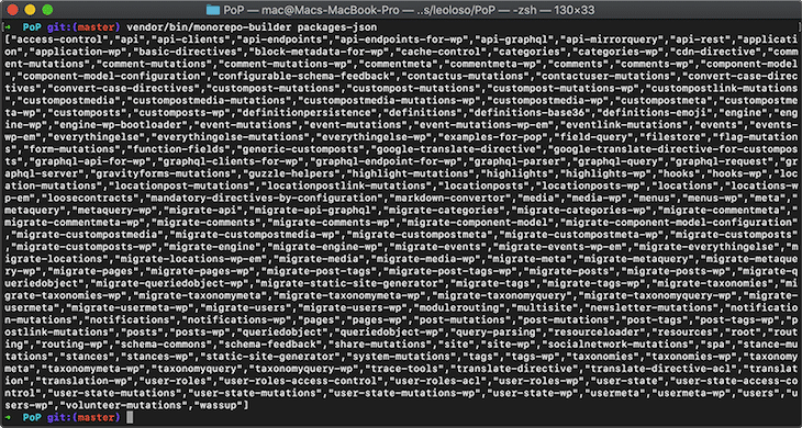 Monorepo Builder Configuration File Stringified JSON Output