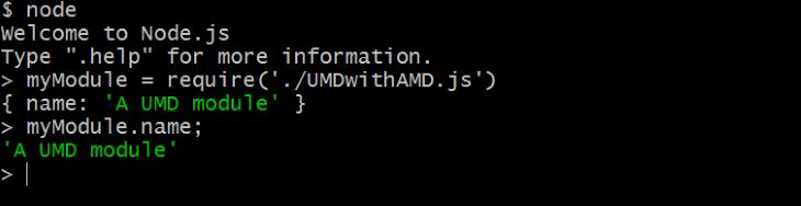 Name Property in Node.js