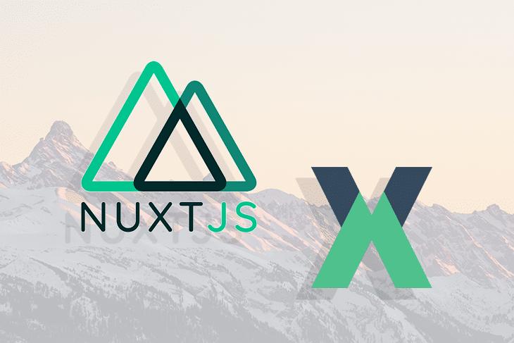 The Nuxt.js and Vuex Logos