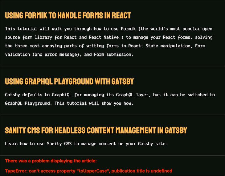 Publication Typeerror Graceful Exception Handling Fallback UI