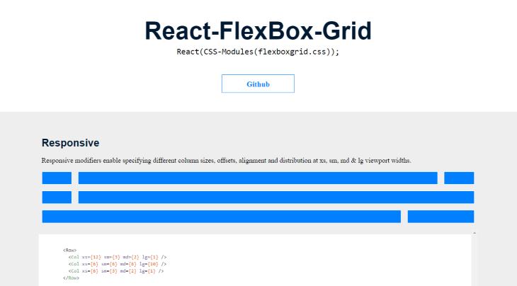 React-Flexbox-Grid