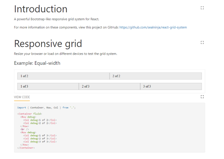 React-Grid-System