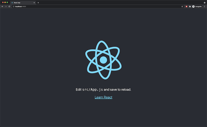 React Example App Welcome Page