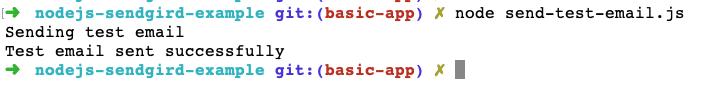 eSendGrid Sendmail Package Node Run Code