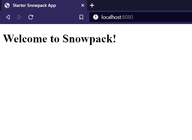 Welcome to Snowpack Screen