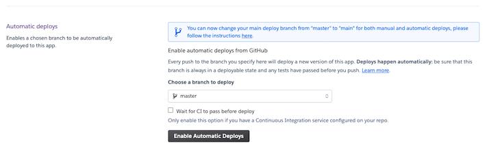 Automatic Deploys Github