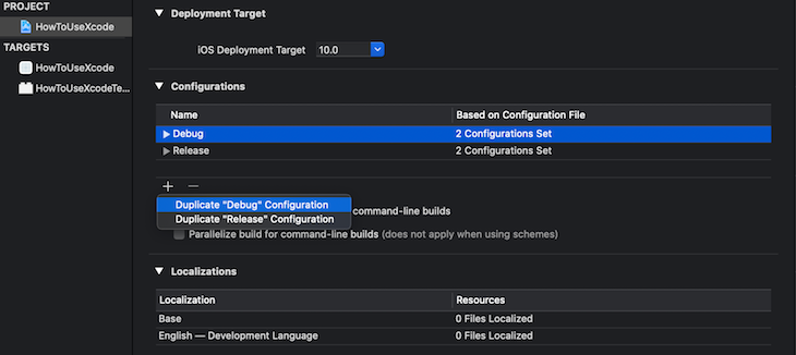 Create Build Staging Configuration