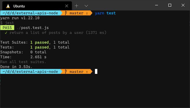 External Api Test UserId GetPost Function