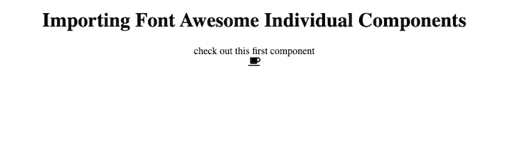 Font Awesome Coffee Icon