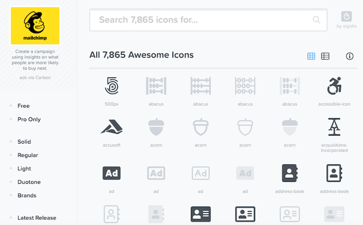 Font Awesome Icon Gallery