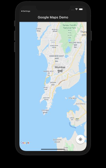 Google Maps Widget Demo Flutter App