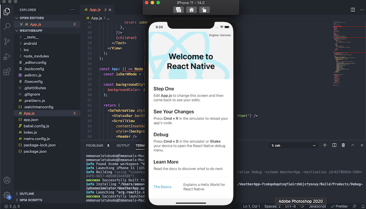 Hermes React Native App Ios Display