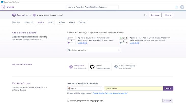 Heroku Connect Github Repository