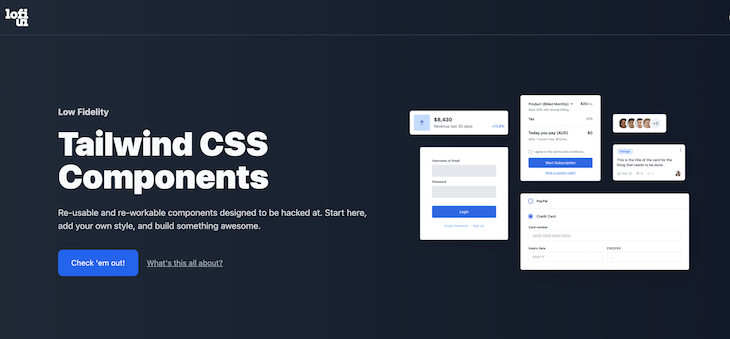 Low Fidelity UI Tailwind Css Components