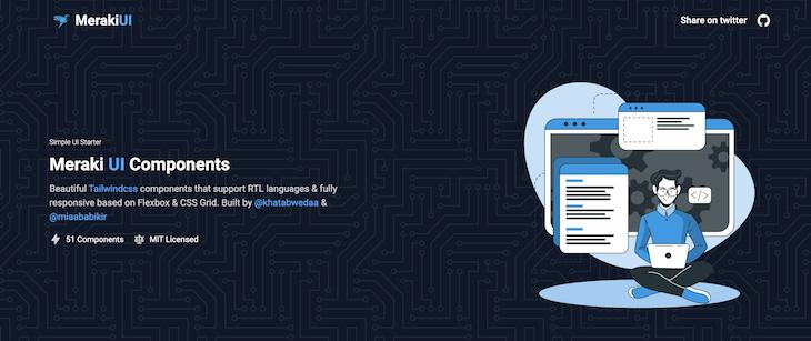 Meraki UI Components Homepage