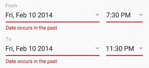 Past Dates