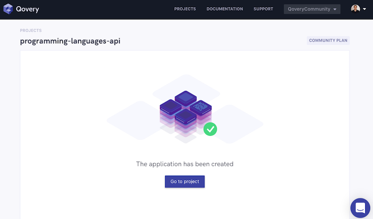 Quovery Programming Languages API Application Created