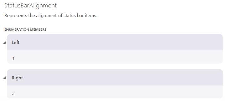 Status Bar Alignment