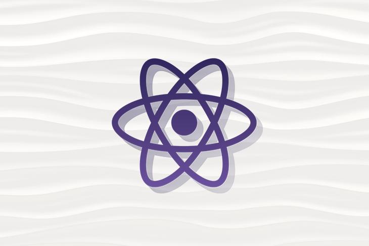 React Logo Over a Sandy Background