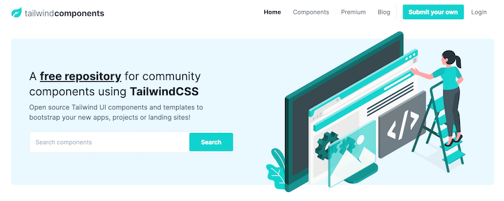 Tailwind Components Homepage