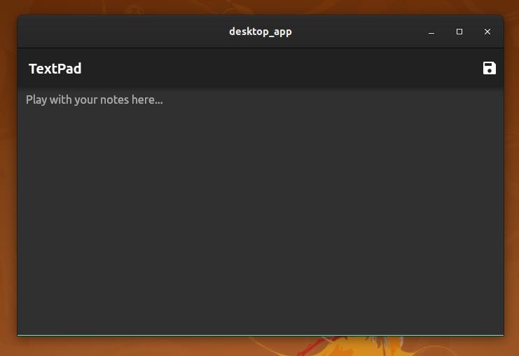 Screenshot of sample textpad app