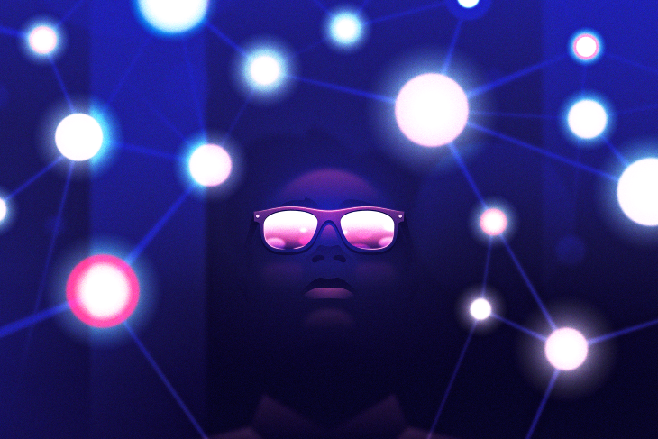 A Person With Sunglasses Looking at Lights