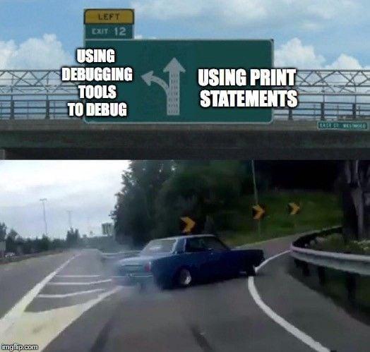 Meme about debugging